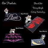 Sticker Mural Amour Papier Peint Vinyle Rouleau Décoration de Mobilier Décoration Murale Moderne Papier Peint Noir XL 58cm X 58cm