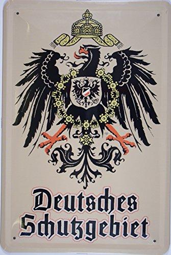 Deutsches Schutzgebiet Adler Blechschild Gewölbt Neu 20x30cm VS172