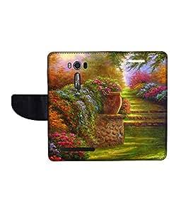 KolorEdge Printed Flip Cover For Asus Zenfone Go 16GB Multicolor - (1478-50KeMLogo09963ZenGo)