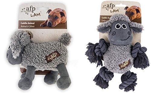 Kleine Schafherde – Hundespielzeug mit Lammfellimitat m… | 04260536530662