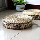 Best Natural Chair - Generic Round Pouf Tatami Cushion Natural Straw Yoga Review
