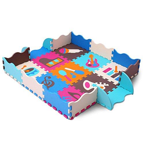 meiqicool Soft EVA Schaumstoff Kinder spielen Matten Interlocking Baby Kids Gymnastik Boden spielen...