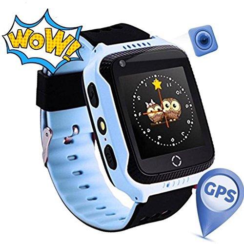 Reloj Infantil Smartwatch para Niños Con llamada Toque HD Pantalla SOS GPS Despertador Compatible con Android IOS App (1.44 Pulgadas - Azul)