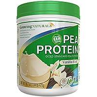 Growing Naturals, Yellow Pea Protein, Vanilla Blast, 16.7 oz (475 g)