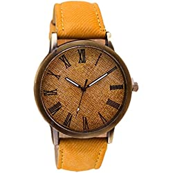 Tonsee Retro Vogue WristWatch Cowboy Leather Band Analog Quartz Watch