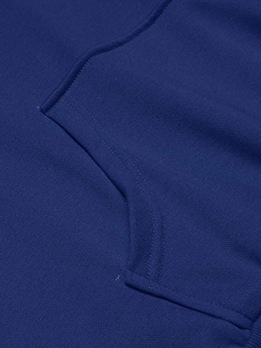 Coofandy Kapuzenpulli Herren Hoodie Kapuzenpullover Schwarz Kapuzen-Sweatshirt mit Kängurutasche 8 Farben Marine