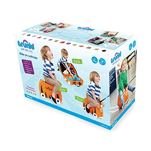 "Image of Trunki  Ride-On Suitcase: ""Tipu"" Tiger print"