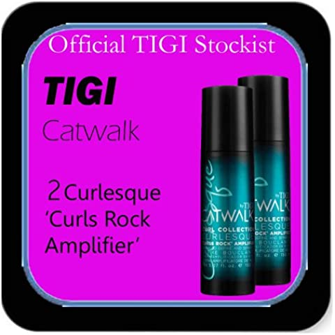 Tigi Catwalk - *Set of 2* Curlesque 'Curls Rock Amplifier' - Cream to Define & Seperate (150ml each). by