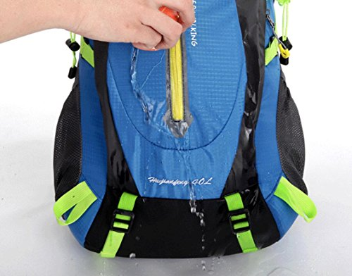 LQABW Außen Paar Wasserdichte Schulter Bergsteigen Reisen Weiblich Durable Nylon Wandern Klettern Rucksack Tasche Blue