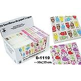 DonRegaloWeb - Display de 24 paquetes con 20 servilletas de papel de triple capa decoradas con buhos y zorritos y multiples colores