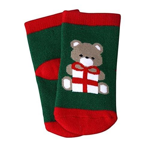 Douche Diy Rideau Costume - Reaso Ours Imprimer Noël Nouveau-né bébé Chaussettes