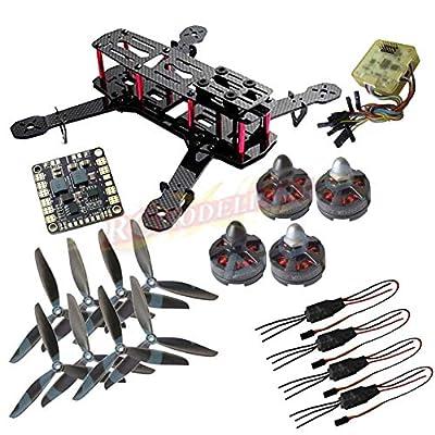 powerday®H250 (like QAV250) Carbon Quadcopter kit+Tarot MT2204? 2300KV Brushless motor+ Emax 12A ESC+CC3D FC +6045 3-blade Props+Matek Power Hub Board