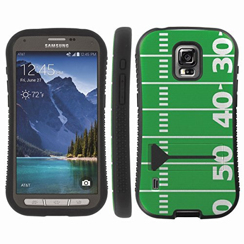 [ArmorXtreme] Hybrid ShockProof Armor KickStand Case (Football Field) for Samsung Galaxy S5 ACTIVE G870A