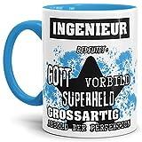 Tassendruck Berufe-Tasse Bedeutung Eines Ingenieur Innen & Henkel Hellblau/Job/Tasse mit Spruch/Kollegen/Arbeit/Witzig/Mug/Cup/Geschenk-Idee Qualität - 25 Jahre Erfahrung