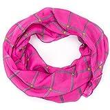 ManuMar Loop-Schal für Damen | Hals-Tuch mit Karo-Motiv als perfektes Sommer-Accessoire | Schlauch-Schal - Das ideale Geschenk für Frauen