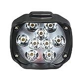 KKmoon Fari Anteriori per Moto, 9 LED 15W 1500Lm Faro per Moto Bianco Scooter Faretto fendinebbia Accessori moto, Moto Faro anteriore