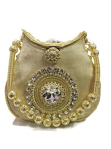 Bridal marriage velvet golden clutch bag metal Handbag purse Crystal,Rhinestones party (Velvet Purse Clutch)