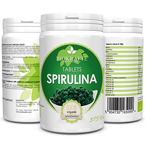 Bio Spirulina Tabletten Zertifizierte Ergänzung 375 tabl. 400 mg