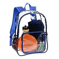 AimdonR Transparent Backpack, Clear Transparent Student School Bag, Trendy Fashion