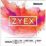 D'Addario DZ311-4/4H - Cuerda para violín de acero en Mi, 4/4 (tensión alta)