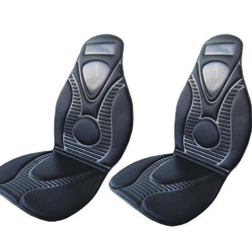 CD 9875 2 Stück Fahrer / Beifahrer Heizbare Sitzunterlage Sitzschoner 2 Stufen 12Volt 45Watt