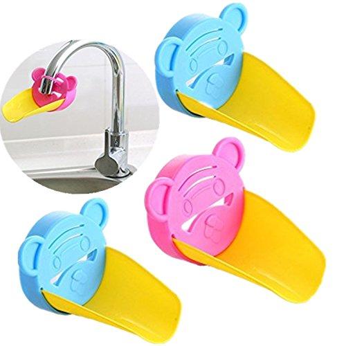 Wuzmei robinet Extender Lavabo Poignée Extender, Enseignez à votre enfant Good Habitudes d'Assainissement, sûr Fun Solution de lavage à la main Lot de 3