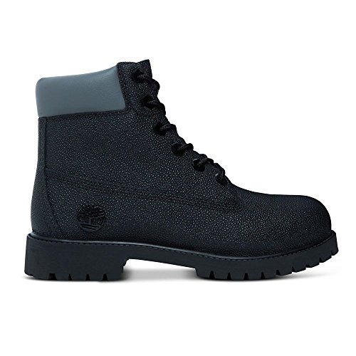 Timberland 6 Inch Classic Boot Youth Black Sting Ray Helcor Leather Ankle Boots Black Sting Ray Helcor