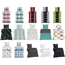 Seersucker Bettwäsche 100% Baumwolle mit Reißverschluss in verschiedenen Größen und viele Designs - Seersucker Bettwäsche 135x200 + 80x80 cm, Design UNI Anthrazit + Gratis Waschhandschuh von Falco