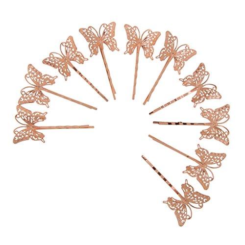 10pcs Epingles à Cheveux Papillon Grand Clair Mode Bobby Pins Couleur Cheveux Fille - #3, /