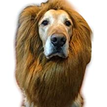 edealing (TM) Pet Costume Lion Mane perruque pour les grands chiens Cat Fancy Dress Up Halloween Festival de vêtements peut être réglable (Brown)