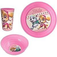 Paw Patrol Set desayuno 3 piezas plastico Patrulla Canina (-LQ0053)