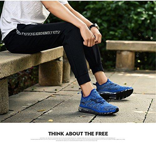 MIMIYAYA Unisex Herren Damen Sportschuhe Laufschuhe Bequeme Air Laufschuhe Schnürer Running Shoes Mode und Freizeit 35-44EU Blau