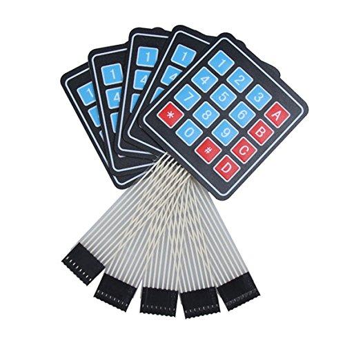 Membran-schalter (demiawaking 5x 4x 4Matrix Array 16Schlüssel Membran Schalter Tastatur Tastatur für Arduino)