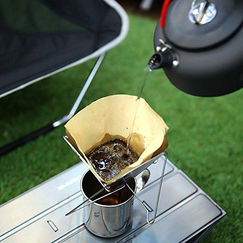 wiederverwendbar über Kaffee Gießen Filter papierlosen Permanent Edelstahl faltbar, tragbar Drip...