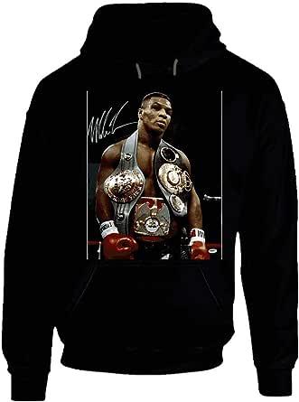 Mike Tyson 3 Belts Cool Retro Boxer Fan Hoodie.