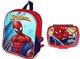 Spiderman Sac à Dos + boîte à goûter
