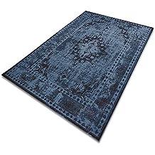 Casa Pura Tapis Vintage Bleu Type Persan | 100% Polypropylène | Tailles Et  Couleurs Au