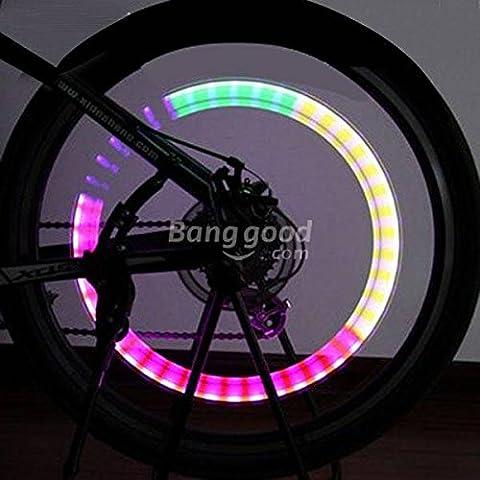 Pink Lizard bici bicicletta pneumatico della ruota ha parlato Valvola luce LED della lampada della