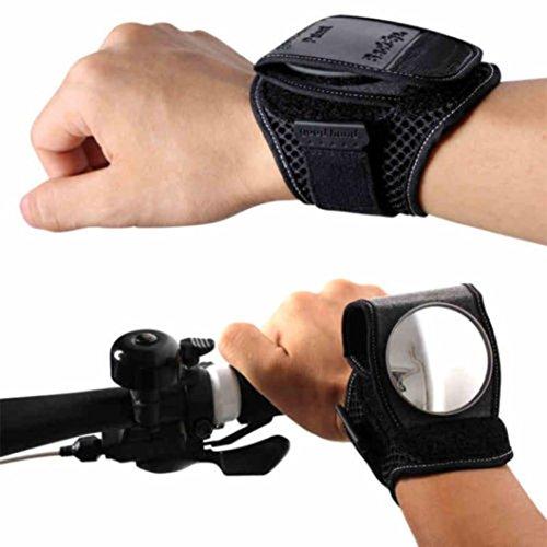 hunpta-bike-bicycle-end-flexible-wrist-band-strap-reflex-rear-view-rearview-back-mirror-black