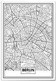 Panorama® Poster Karte von Berlin 50 x 70 cm | Gedruckt