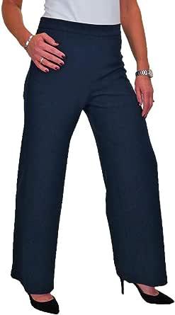 ICE Pantaloni con Gamba Larga e Vita Alta in Crepe Stretch 42-54