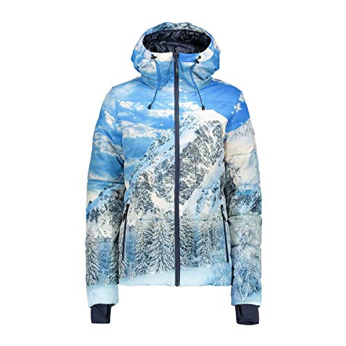 CMP Damen Thinsulate Twill 5000 Skijacke, B.Blue/B.Co/Marine, 42