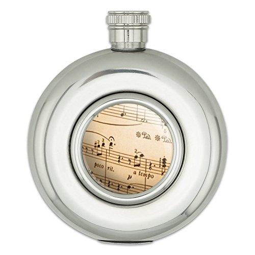 Runde Edelstahl Flachmann Musik Musikinstrumente Music gebraucht kaufen  Wird an jeden Ort in Deutschland