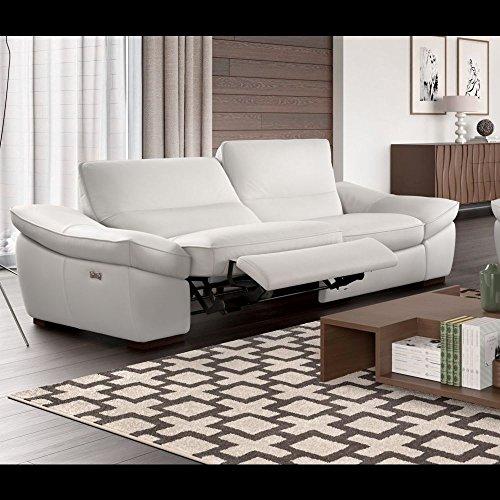 Designer Funktionssofa Leder Sofa Sofagarnitur Ledercouch Polstergarnitur Relaxsofa
