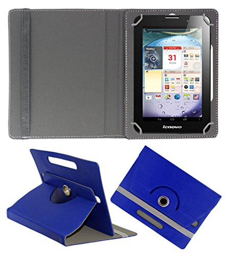 ACM ROTATING 360° LEATHER FLIP CASE FOR LENOVO IDEAPAD A3000 TABLET STAND COVER HOLDER DARK BLUE  available at amazon for Rs.149