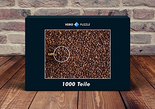 VERO PUZZLE 49546 Hintergründe - Kaffee-Bohnen, 1000 Teile in hochwertiger, cellophanierter...