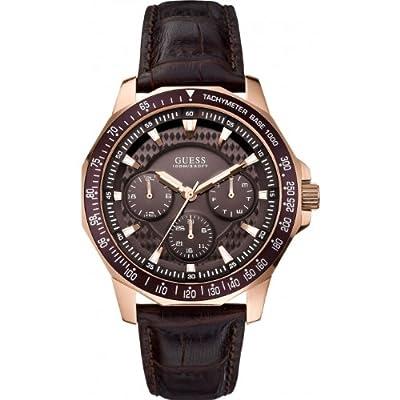 Guess W0387G3 - Reloj de cuarzo , correa de cuero color marrón
