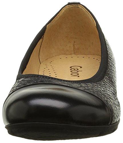 Gabor Shoes Sport, Ballerine Donna Multicolore (Argento/schwarz 69)