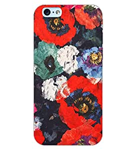 PrintDhaba FLOWER PATTERN D-6855 Back Case Cover for APPLE IPHONE 6 (Multi-Coloured)