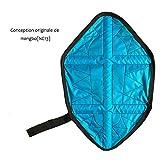 AOLVO Automatique Couvre-Chaussures Main Libre, Réutilisable, Surchaussures Shoe Cover Rapide Imperméable pour Garder Le Sol Propre Maison - Bleu Clair